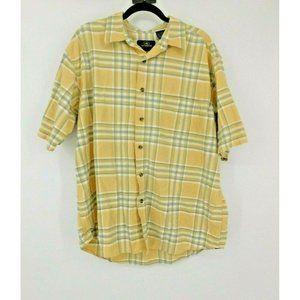 RedHead Button Up Shirt Short Sleeve Plaid Men XXL